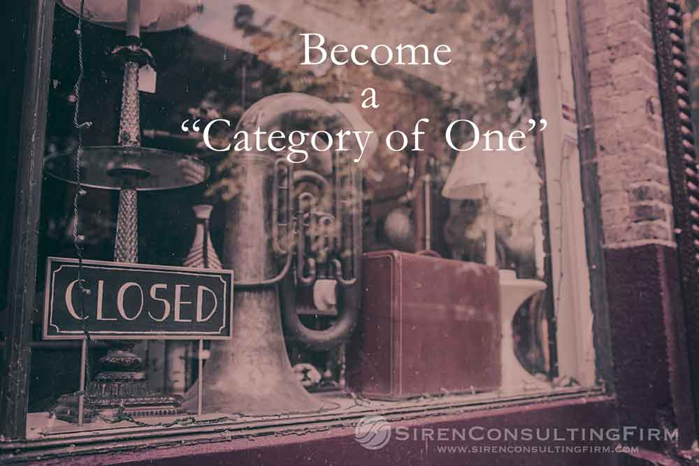 Become A Category Of One